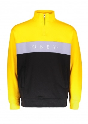 Obey Chelsea Mock Neck Zip - Energy Yellow