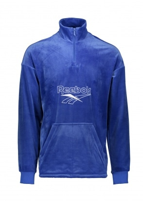 Reebok CL Velour 1/2 Zip - Crushed Cobalt