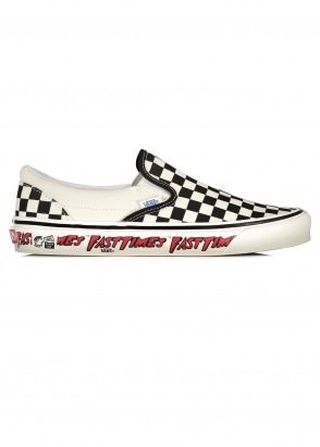 Vans Classic Slip On 9 Fast Times - Black / White