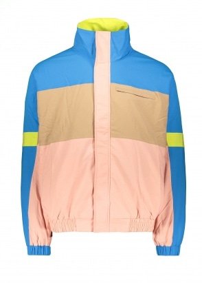 Drôle de Monsieur Color Block Striped Jacket - Blue