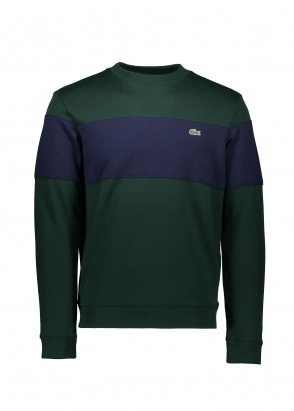 Lacoste Colorblock Sweat - Sinople / Navy