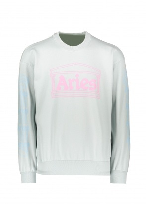 Aries  Column Sweatshirt - Baby Blue