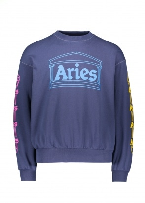 Aries  Column Sweatshirt - Blue
