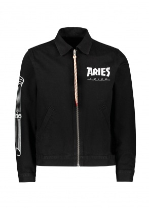 Aries  Column Zip Through Jacket - Black