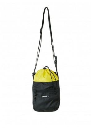 Obey Commuter Cinch Bag - Black Multi