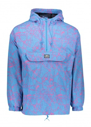 Obey Concrete Anorak - Cracked Sky Blue