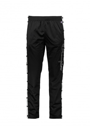 Champion Contrast Popper Track Pants - Black