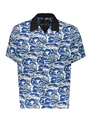 Stussy Coral Pattern Shirt - Blue