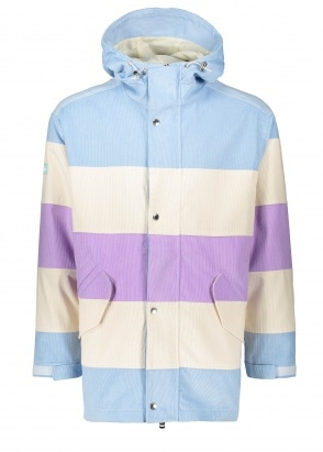 Drôle de Monsieur Corduroy Striped Jacket - Blue