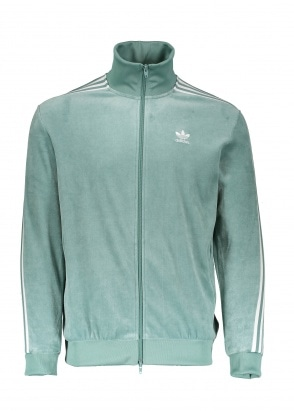 adidas Originals Apparel Cozy Track Top - Green / White