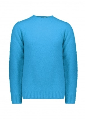 Shetland Woollen Co.  Crew Neck Pullover - Splash