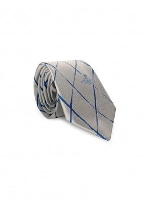 Vivienne Westwood Accessories Cross Check Pattern Tie - Off White