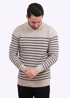 Barbour Current Stripe Crew -Neutral Base