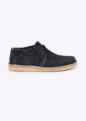 Clarks Originals Desert Trek Int Suede - Black