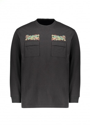 Maharishi Dio Serpente Embroidery LS Tee - Black