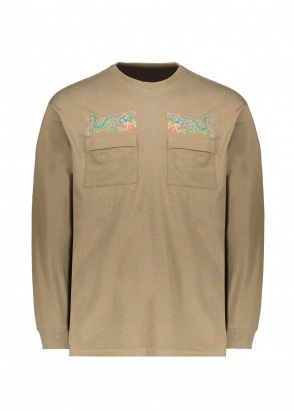 Maharishi Dio Serpente Embroidery LS Tee - Olive