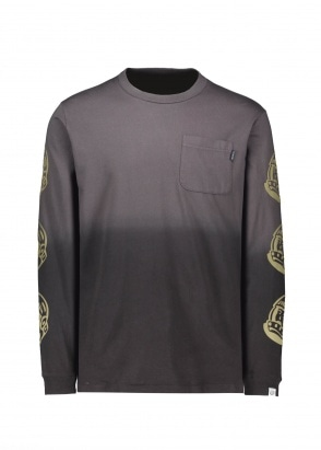 Billionaire Boys Club Dip Dye LS T-Shirt - Black / Grey