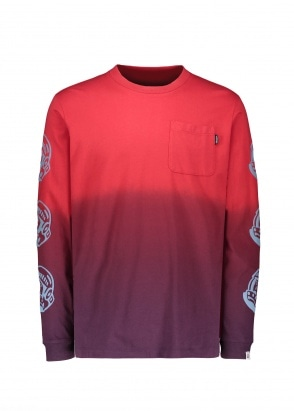 Billionaire Boys Club Dip Dye LS T-Shirt - Purple / Red