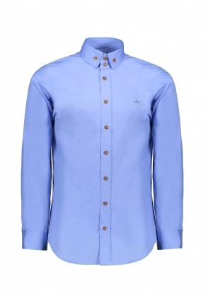 Vivienne Westwood Mens Double Button Shirt - Blue