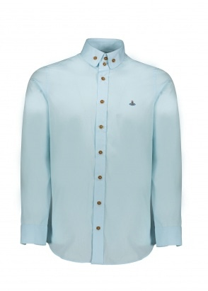 Vivienne Westwood Mens Double Button Shirt - Light Blue