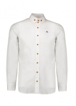 Vivienne Westwood Mens Double Button Shirt - White