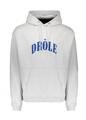 Drôle de Monsieur Drole Embroidered Hoodie - Grey