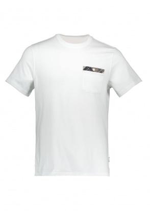 Barbour Durness Pocket Tee - White