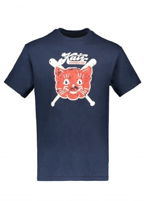 Ebbets Field Flannels Kansas City Katz 1961 Tee - Navy