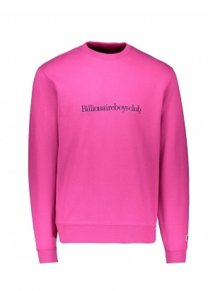 Billionaire Boys Club Embroidered Logo Crew - Pink