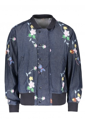 Engineered Garments ND Jacket Floral Embroidery - Indigo