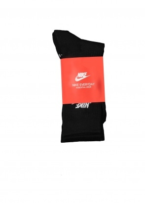 Nike Apparel Everyday Socks 3 Pack - Black