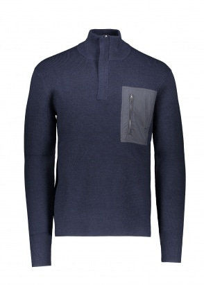 Norse Projects Fjord Tech Half Zip - Dark Navy