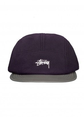 Stussy Fleece Nylon Mix Camp Cap - Purple