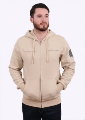 Billionaire Boys Club Flight Patch Zip Hood - Tan