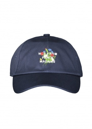 Drôle de Monsieur Flower Slogan Cap - Navy