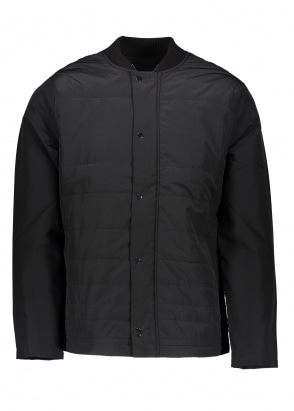 Folk Wadded Contour Jacket - Black