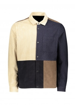 Folk Fracture Jacket - Navy Tobacco