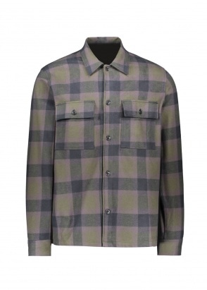 Wood Wood Franco Shirt - Green Check