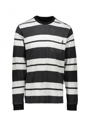Stussy Franklin Stripe LS Crew - Black