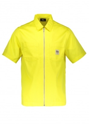 Stussy Full Zip Work Shirt - Yellow