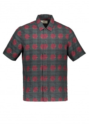 Folk Gabe Shirt - Dot Dash Ikat
