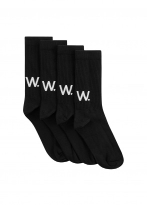 Wood Wood Gail Socks 2 Pack - Black