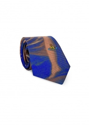 Vivienne Westwood Accessories Graphic Tie - Blue