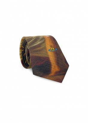 Vivienne Westwood Accessories Graphic Tie - Green