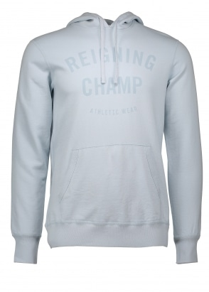 Reigning Champ Gym Logo Pullover Hoodie - Sky Blue
