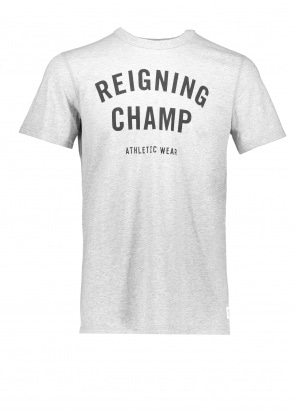 Reigning Champ Gym Logo T-Shirt - Grey / Black