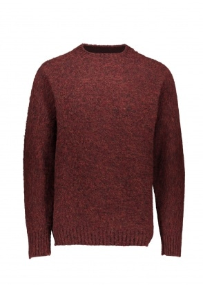 Shetland Woollen Co.  Heavy Pullover - Ruby