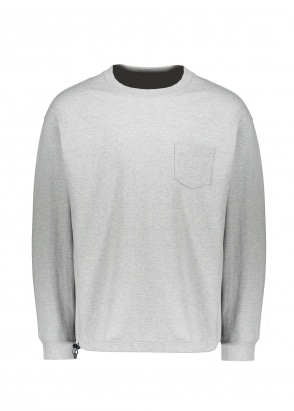 Uniform Bridge Heavyweight Pocket LS Tee - Grey