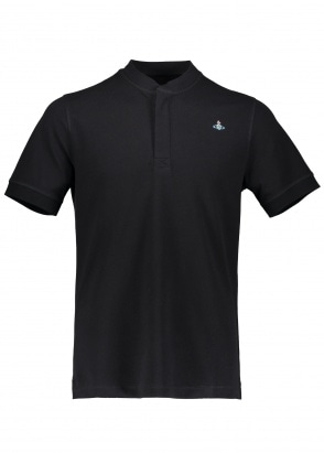 Vivienne Westwood Mens Henley Polo - Black