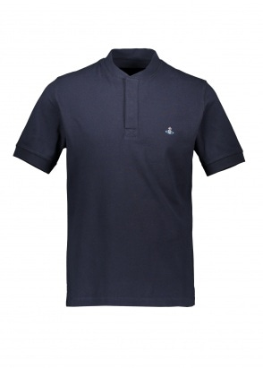 Vivienne Westwood Mens Henley Polo - Navy